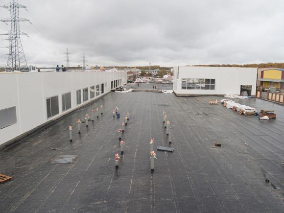 Cтроительство многофункционального комплекса «Пеликан-Авто». г. Мытищи. Октябрь 2011 г.