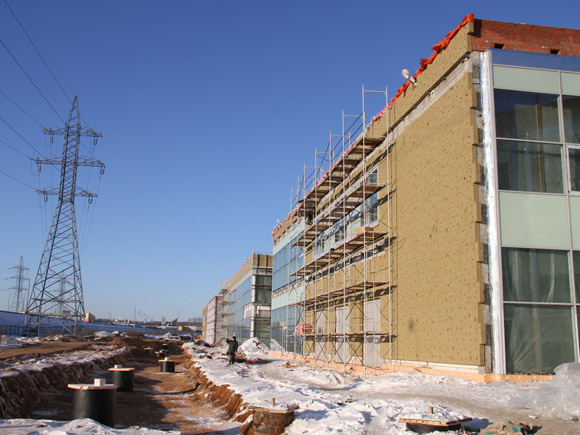 The construction of «Multifunctional administrative warehouse complex «Pelican Auto» is in progress