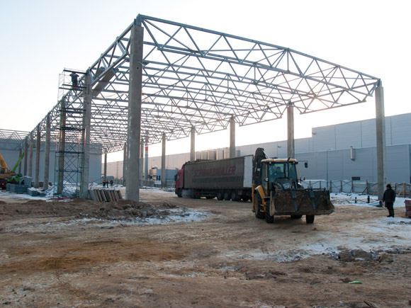Строительство второй очереди цеха логистики завода по производству бытовой техники «БСХ Бытовые Приборы»