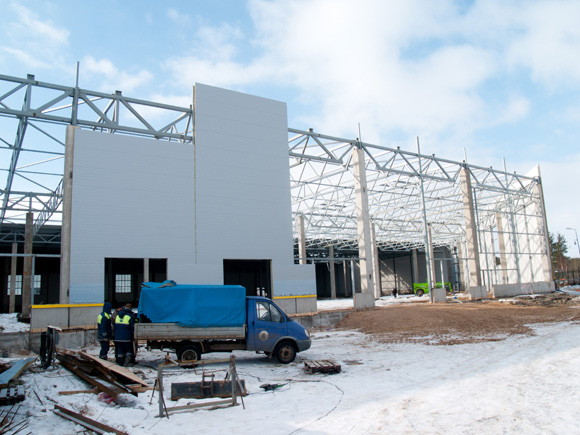 Construction of second phase of a project for Logistics workshop of the home appliances production plant OOO «BSH Bytowije Pribory»