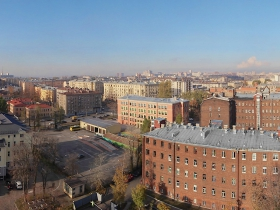"Built 65% of the residential complex ""Preobrazhensky""."