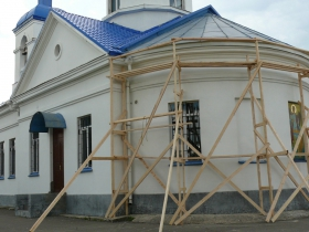 Charity event on the reconstruction of the church of the Archangel Michael in Volkhov