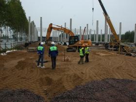 Успешно продолжается строительство ТК на Дороге Жизни