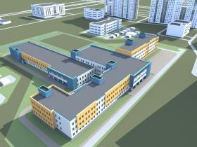 Здание общеобразовательной школы.